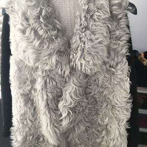 Club Monaco shearling and cashmere vest